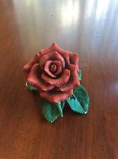 """Lenox Fine Porcelain """"Red Rose"""" Flower Figurine 1992"""