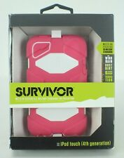 Survivor Ipod Touch 4th Generation Case US Military Standard Pink white