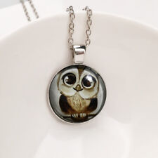 Fashion Cute Owl Pendant Choker Silver Necklace For Women Accessories Jewelry H7
