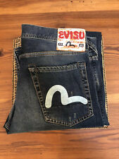 "Evisu EU ED Jeans 🔥 Size 34"" Mens Slim Seagul Colour: Indigo 100% Genuine✨"