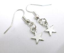 "Pendientes artesanales  ""Estrella"" plata tibetana - minimalistas (Envios comb)"