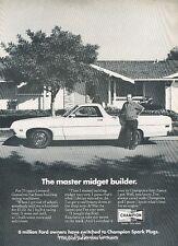 1971 Ford Ranchero Spark Plugs - Original Advertisement Print Art Car Ad H77