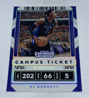 2020 Panini Contenders Draft Picks Holographic Foil CAMPUS Ticket #12 RJ Barrett