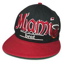 Miami Heat NBA 9Fifty New Era Adjustable Snapback Baseball Cap Hat Black Red
