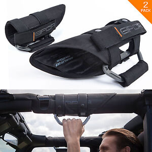 GPCA GP-Grip PRO Grab Handles for Jeep Wrangler JL/ JK 2DR/ 4DR 2007-2019 (Pair)