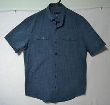 Van Heusen Green Short Sleeve Dress Shirt Size S Small 14-14 1/2
