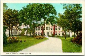 Shreveport, Louisiana Postcard SHRINE HOSPITAL Building View Curteich c1930s