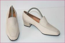 DIAPOSITIVE Paris Escarpins Mocassins Cuir Peau Beige T 4 / T 37 TBE