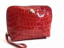 Aspinal de London Hepburn bolsa de cosméticos en Rojo Patente Croc