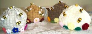 Novelty Hand Knitted Bee Beehive Tea Cosy