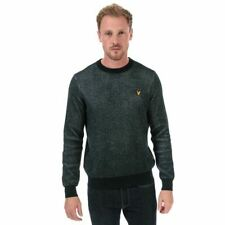 Men's Lyle And Scott Crew Neck Knitted Cotton Jumper in Blue