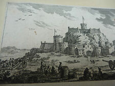 ENGRAVING EARLY The seige , 1600s   provenance Seeger collection to research