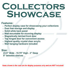 """Collectors Showcase - Premium Display Case for 3-3/4"""" Star Wars Figures - S2MS"""