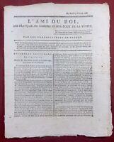 L'ami du Roi 1791 Rare Journal Royaliste Fauchet Calvados Delacroix Royaliste