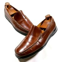 Cole Haan NikeAir Brown Leather Moc Toe Loafers Size 11.5  Men's