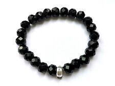 Thomas Sabo Charm-Armband Obsidian, 925 Silber & Obsidian, 19cm, X0035-023-11