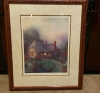 SERGON Cottage At Dusk  Hand Signed and Numbered Lithograph Wood Frame
