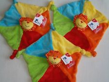 3X SAFARI MOTHERCARE LION BLANKIE COMFORTER BABY SOFT TOY NEW WITH TAGS NEXT D P