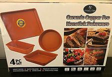 Culinary Edge Ceramic Copper Pro 4 Pc. Nonstick Bakeware Set
