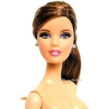 2012 Tim Gunn Collection for Barbie Pink Label Doll Brunette Nude NEW with Stand