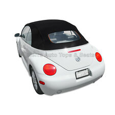 VW Beetle 2003-2010 Convertible Top in Black Stayfast with Glass Window