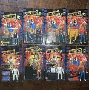 1993 LAST ACTION HERO LOT OF 8 ACTION FIGURES ALL MOC - Arnold Schwarzenegger