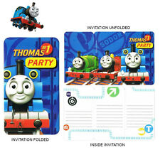 8x Thomas The Tank Engine and Friends Invitations Birthday Party