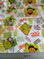 1/2 Shrek cotton fabric. Cotton