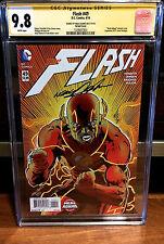 Flash #49 Cgc 9.8 Nm Ss Neal Adams Signed Tv Cw Re Birth Flash Point Dc