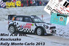DECAL  1/43 - MINI WRC - KOSCIUSZKO   - Rally Montecarlo   2013