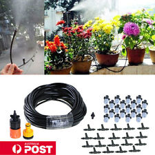 """20m/66"""" Outdoor Garden Misting Cooling System + 20 Plastic Mist Nozzle Sprinkler"""