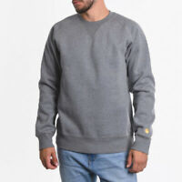 Carhartt Wip LS Chase 13oz Jumper Grey Heather Gold Heavyweight Sweatshirt