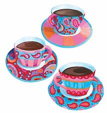 Coffee Tea Cup Anna Maria 25 Color Cups Blue Purple Pink Damask Wallies Stickers