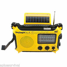 Yellow Kaito KA500 Voyager Solar Crank Battery Survival Radio AM FM Shortwave
