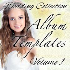 WEDDING PHOTO ALBUM DESIGN TEMPLATES / ADOBE PHOTOSHOP