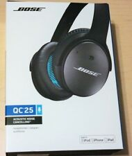 Bose QuietComfort 25 Acoustic Noise Cancelling Headphones for Apple Black Wired