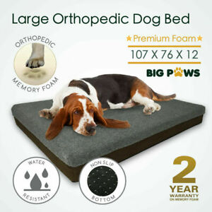 Memory Foam Dog Bed 12CM Thick Large Orthopedic Dog Pet Beds Water Resistant Big