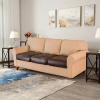 Simple Sofa Seat Cushion Cover PU Leather Slip Covers Stretchy Couch Protector