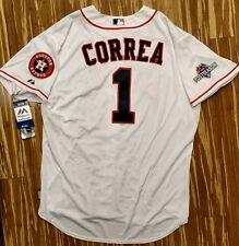 2015 Authentic Carlos Correa Houston Astros Postseason Jersey 52 Cool Base