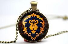 World of Warcraft Alliance Emblem-Bronze Tone Photo Glass Dome Necklace Pendant