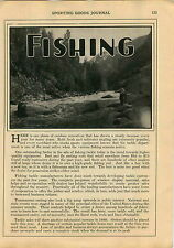 1930 ADVERT 6 PG Fishing Fly Reel Reels Information Article Fish Mounting