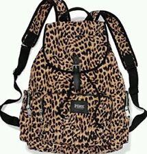 Victorias Secret Leopard Full Size Backpack School Gym Tote Bag NWT