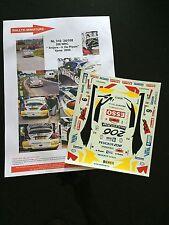 DECALS 1/24 PEUGEOT 206 WRC SNIJERS RALLYE 24H YPRES BELGIQUE 2000 RALLY TAMIYA