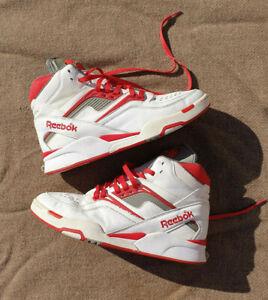 Reebok Pump Sneakers Shoes Twilight Zone Dominique Wilkins Size 11.5 US White Re