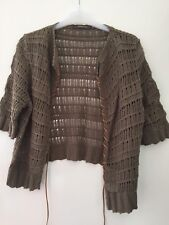 GORGEOUSRIVER ISLAND CARDIGAN WITH TIE DETAIL IN A SIZE 12