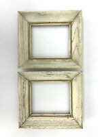 Shabby Chippy Distressed Off White Cottage Decor Small wood Frames fits 5 x 6