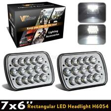 "1 Pair 7x6"" CREE Led Bulbs Sealed Beam Hi/Lo Headlight Headlamp Assembly FOR GMC"