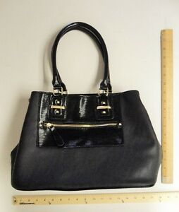 Apt 9 Black with Gold  Purse Tote Hand Bag - FLASH SALE