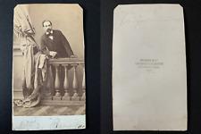 Disdéri, Paris, Le marquis Georges de Pimodan Vintage cdv albumen print CDV, t