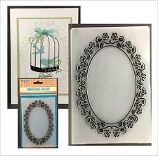 Roses Frame Embossing Folder EFE021 Nellie Snellen Folders Floral Oval